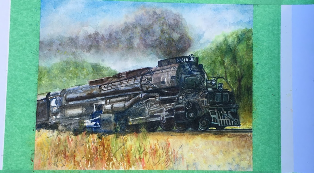 Big Boy locomotive work in progress with most of the final wash