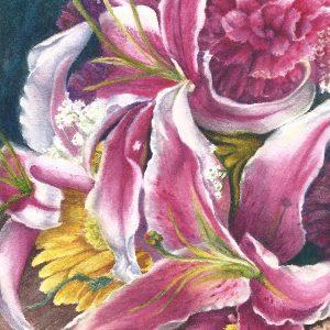 Starazer lillie centerpiece