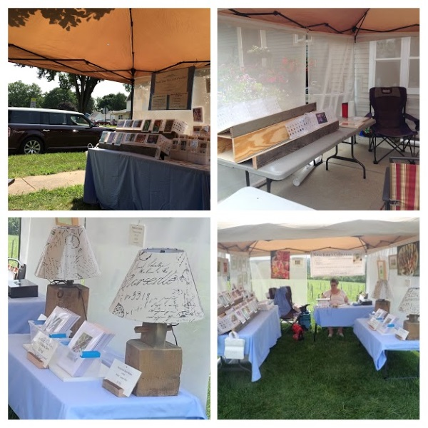 nana Kate's First Art Show Booth in Aug 2018