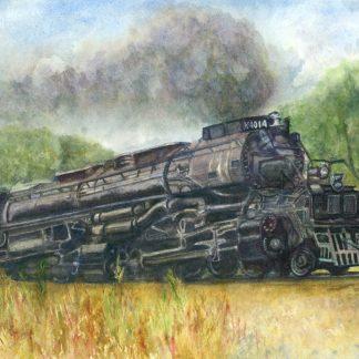 Big Boy steam locomotive on a tour through the mid west